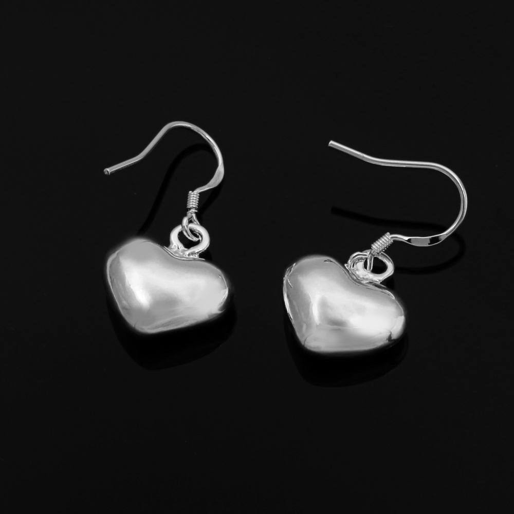 xmasWholesale New Beautiful Fashion Jewelry 925 Silver Earring Little Heart 925 Sterling Silver Earrings Free Shipping E022(China (Mainland))