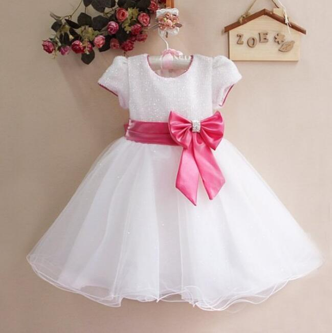 Girl Dress Summer 2016 HOT SALE For 1-7 Ages Princess Dress Cute Bowknot Colorful Girls Clothes t-d067<br><br>Aliexpress