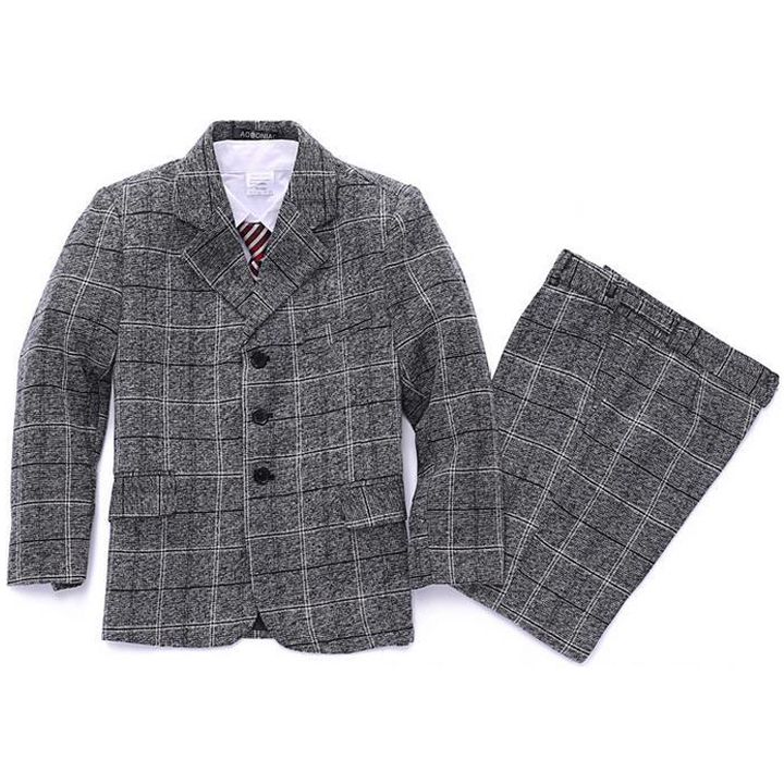 Boys Blazer jacket suit 3 piece Plaid Clothing set Kids clothes Formal dress for Baby Boy Blazers sets Children Wedding clothes книги издательство аст великие сказки мира