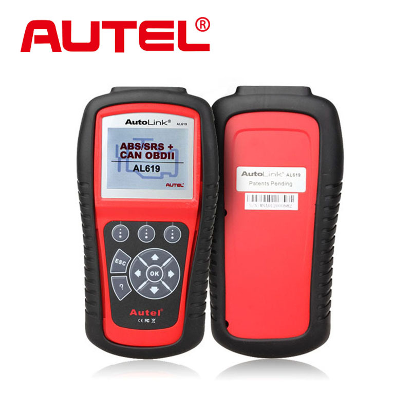 2015 New Autel Autolink AL619 ABS/SRS+OBDII CAN Diagnositc Scan Tool Diagnoses/erases ABS/SRS codes Turn off Check Engine Light(China (Mainland))