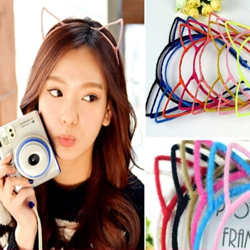 Fashion Novelty Little Devil Cat Ears Headband Tiara Lovely Cute hair band fine jewelry Famale girl hair accessories 10 colors(China (Mainland))