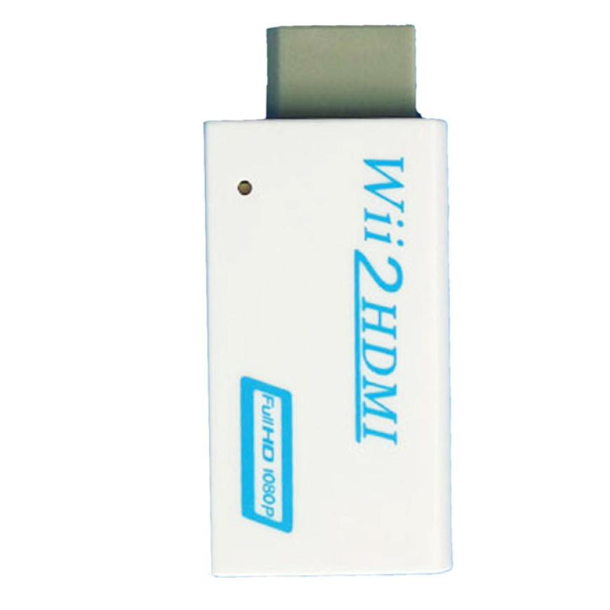 Good Sale Hot!Full 1080p HD Nintendo Wii To HDMI Converter Output Upscaling Adapter 480i Free shipping & wholesale Dec 29(China (Mainland))
