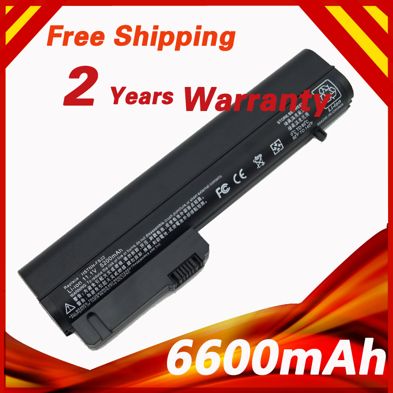 6600mAh Laptop Battery For HP 2533t Mobile Thin Client EliteBook 2540p 2530p For COMPAQ 2400 nc2400 nc2410 2510p KU529AA RW556AA(China (Mainland))