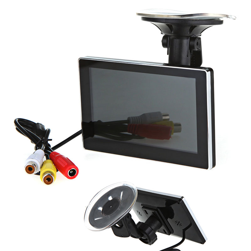 "Professional 4.3"" LCD Car Monitor Mirror Video Players for Rearview Camera VCD DVD + Suction Cup Bracket(China (Mainland))"