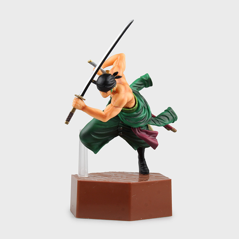 Hot Sale One Piece Figuren Anime Manga Set 20cm PVC Roronoa Zoro Action Figure Comic Luffy Child Gift Doll(China (Mainland))
