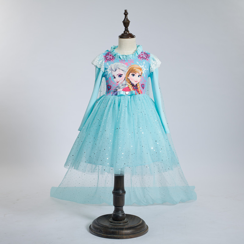 2015 New dress for girls of 5 year old and dress smock fall outfits girl,girl fall long sleeve clothing/custom fall outfits girl(China (Mainland))