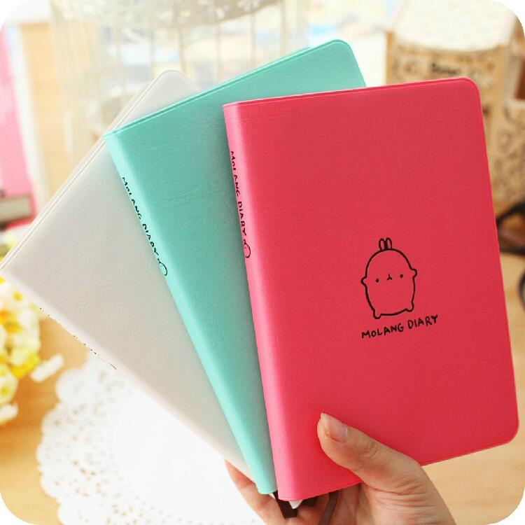 Molang Rabbit 1pc 2016 2017 Cute Diary Any Year Planner Pocket Journal Kawaii Notebook Agenda