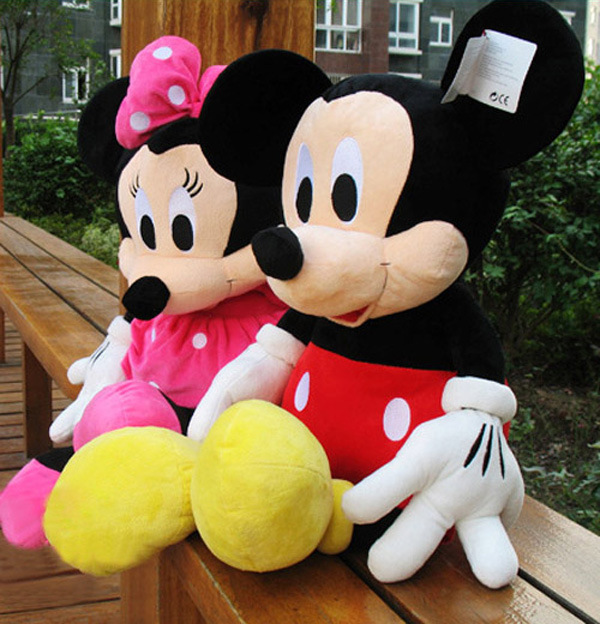 1pcs American edition one Mickey Mouse Stuffed animals plush Toys,35cm,High quality,Kids Birthday Gift,Kids,toys(China (Mainland))