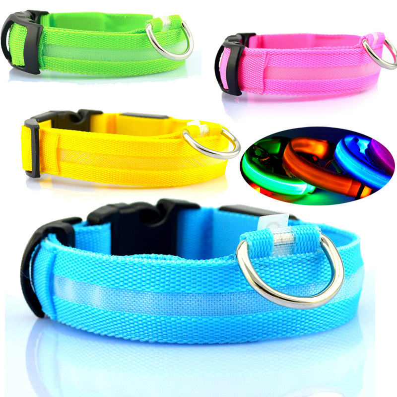 LED Special Offer 2016 Newest Dog Accessories Dog Collars&Leads Grid Luminous Necklace Collar Pet Chain Rope For dogs&Pet. PY019(China (Mainland))