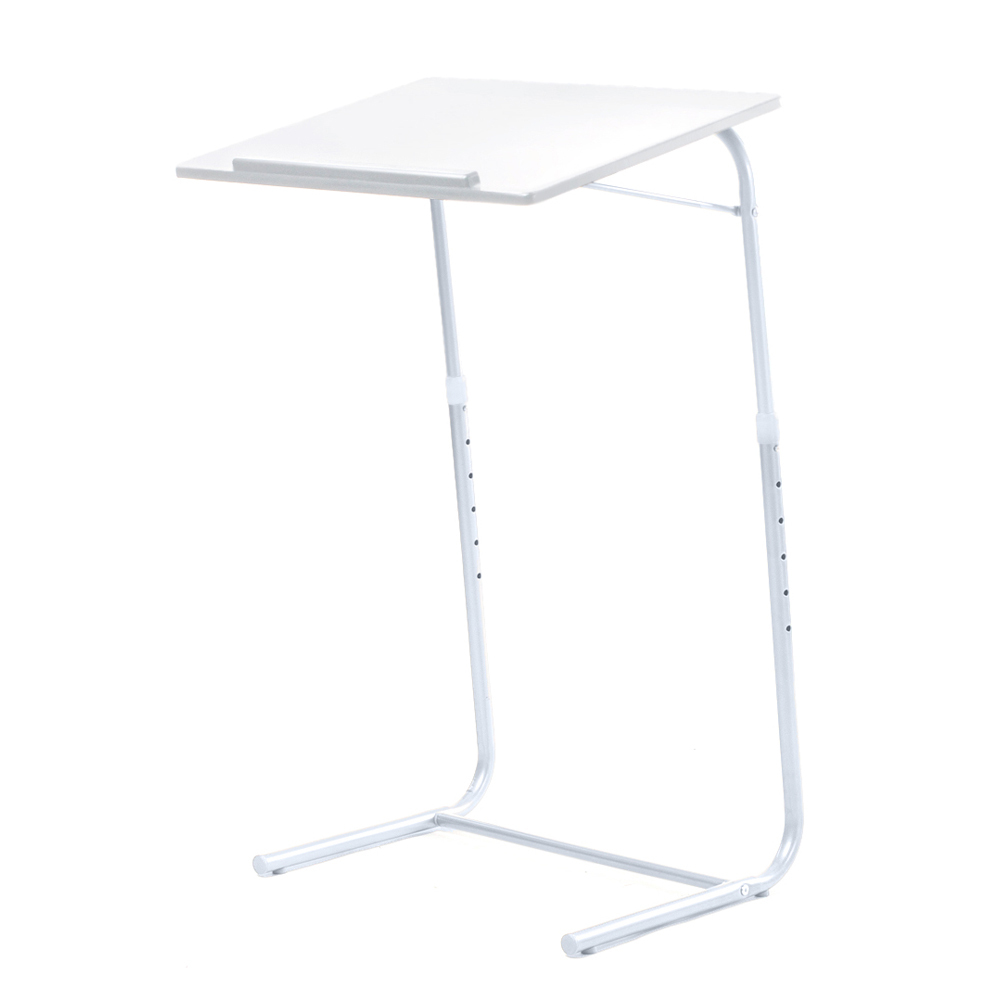 Home Furniture White Height Adjustable Laptop Desk Table Foldable Folding Stand Tray(China (Mainland))