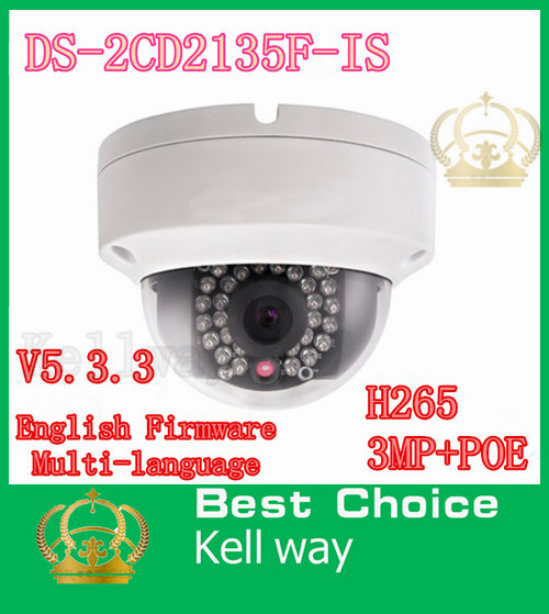 2015 New V5.2.5 Hikvision DS-2CD2132F-IS with Alarm+ Audio replace DS-2CD2132-I 3MP Mini Dome Camera 1080P POE IP CCTV Camera<br><br>Aliexpress