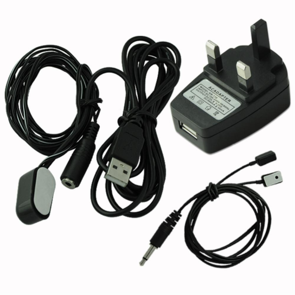 IR Repeater Infrared Remote Control 1 Receiver 2 Emitters + USB UK Plug Adapter(China (Mainland))