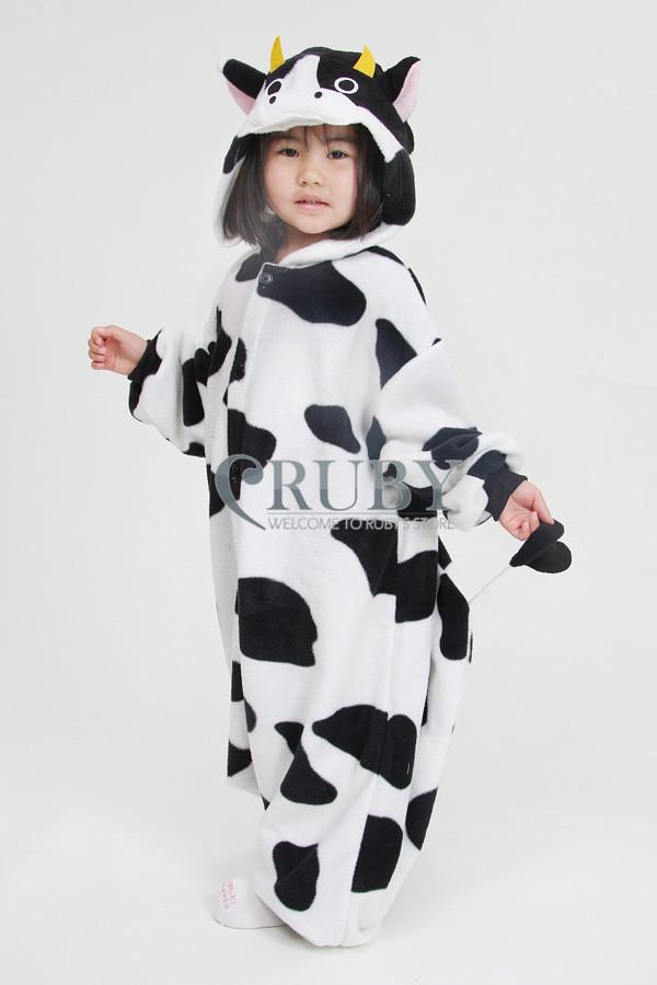 Unisex Children's Fashion Onesies Cosplay Costumes Animal Pajamas Christmas Gift Kids Cartoon Cute Pyjamas Children,Cow - RUBY TOP 2 store
