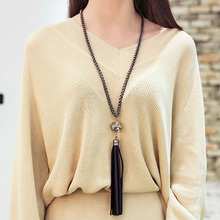 Buy Trendy simulated pearl long tassels pendant necklaces women accessories Vintage RED WHITE sweater necklace chain gift for $1.42 in AliExpress store