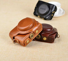 Leather Case Camera Case Bag Cover for Sony RX100 IV / M4 Camera High quality Free Shipping