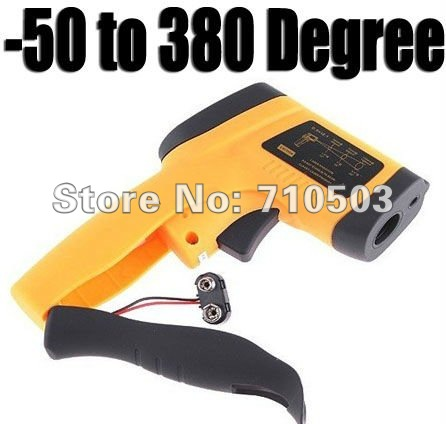 free shipping Non-Contact IR Laser Infrared Digital Thermometer 50~380 Degree Non-Contact Infrared IR Digital Thermometer