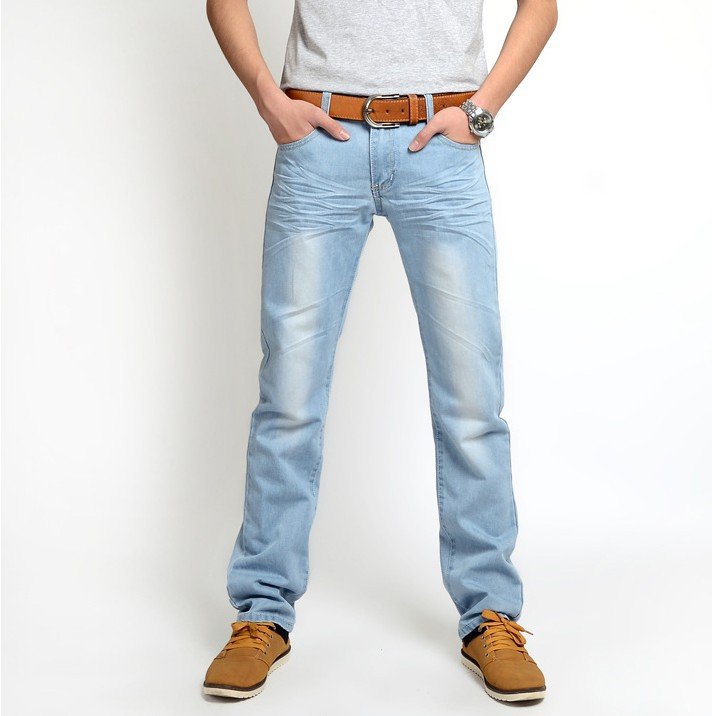 Hot Sales! 2015 new fashion men's jeans, Korean Slim waist straight washed designer brand jeans A39# - AliExpress Men Clothing Store store
