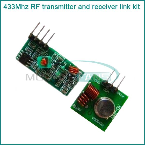 5Pcs 433Mhz RF transmitter and receiver link kit for Arduino/ARM/MCU WL(China (Mainland))