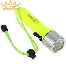 Light Yellow 3W 180LM Q3 LED Flashlight Waterproof LED Torch Flash Light