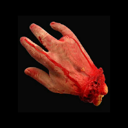 1PCS 23X14cm Halloween haunted house decoration supplies props tricky toys terrorist toys fake blood 4 fingered hand off hand(China (Mainland))