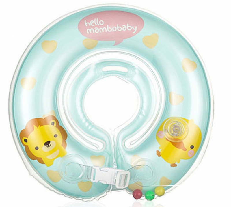 PVC Infant Neck Floating Ring Baby Swimming 0-2 years Rubber Ring Inflatable Swimming Circle Swimtrainer Accessories(China (Mainland))