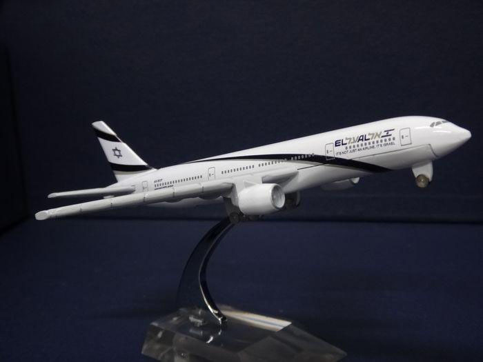 16cm Metal airlines plane model Boeing B777 Israel airplane model for children toys(China (Mainland))