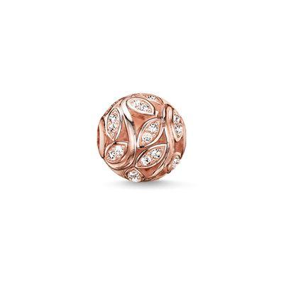 tree life rose gold metal plated leaf Rhinestone beads 2016 New Ts karma bead European fashion women jewelry making - I .DORA Jewelry Factory Store store