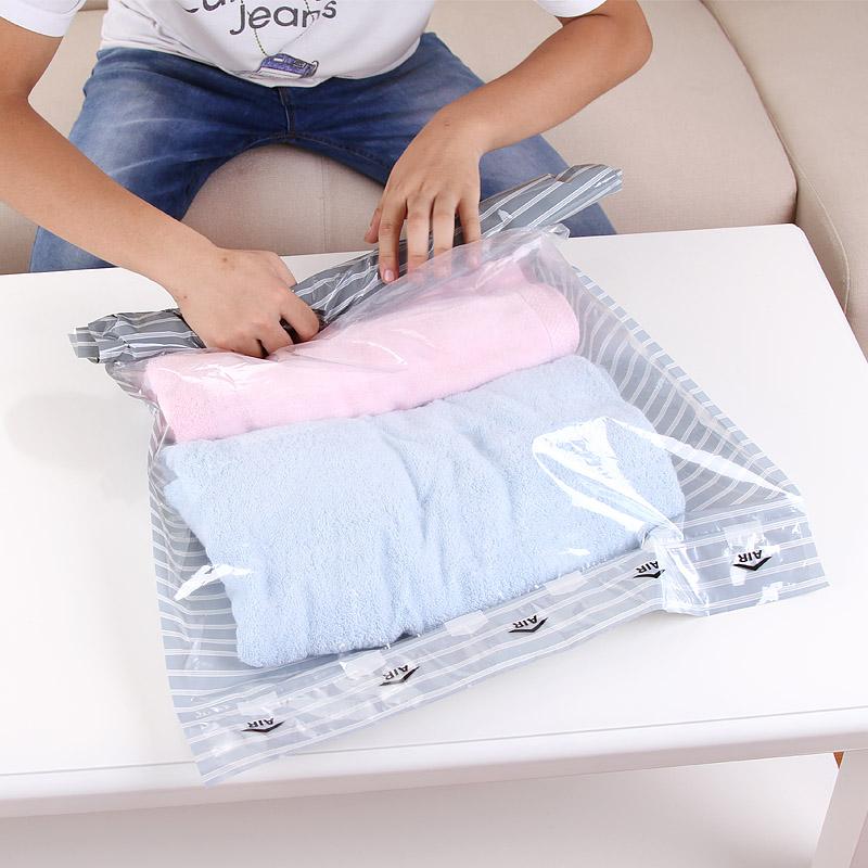 2 Pcs Travel Storage Bag Set vacuum bags for Clothes Tidy Organizer Home Closet Divider container transparent organizador(China (Mainland))