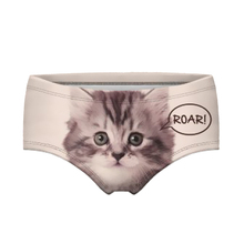 Top Quality New Brand Fashion Women Underwear Seamless Control Panty Sexy 3D Cats Panties Printing Briefs(China (Mainland))
