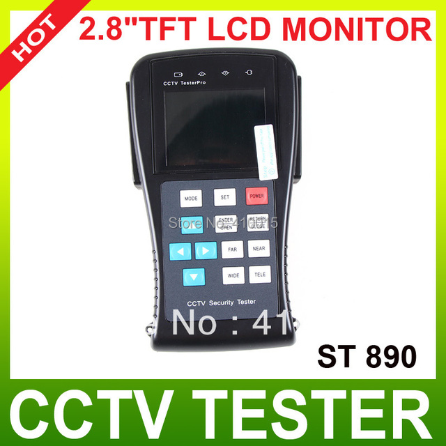 "2.8"" TFT LCD  screen CCTV Tester camera with PTZ controller and cable test STest-890"
