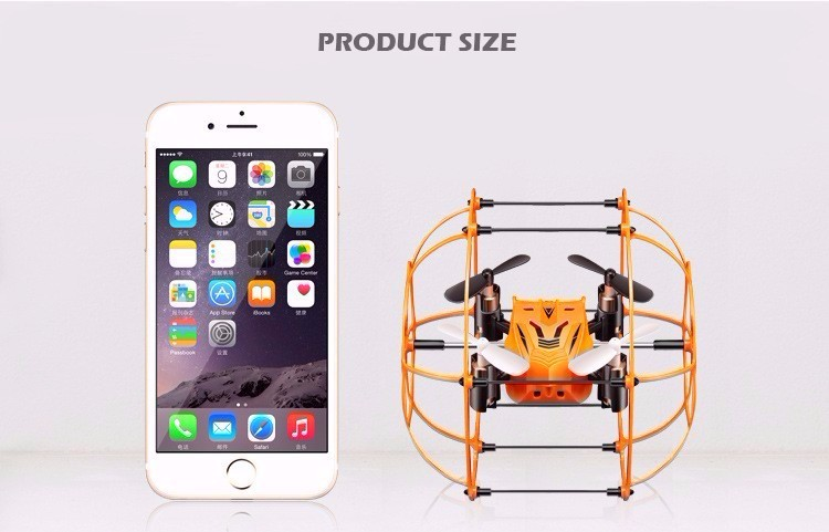 Syma X18 4CH 6 Axis Mini RC Quadcopter Drone 2.4GHz Helicopter for Kids Gift Flying/Climbing Spider with Net Protective Cover
