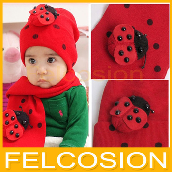 Bear Leader baby hat cap scarf twinset Cotton Beatles hat children hat+scarf Toddler animal