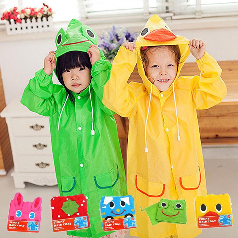 Children Raincoats Cute Polyester Rain Coat Rainwear Rainsuit Kids cartoon poncho Waterproof Children's Raincoat s5(China (Mainland))