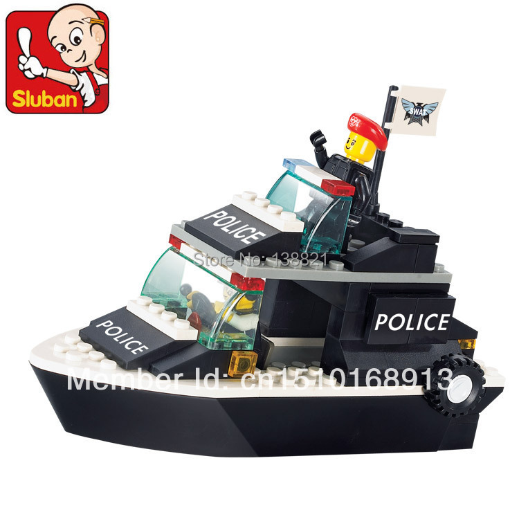 DIY Educational Toys children Building Blocks police Patrol boats self-locking bricks Compatible Lego - zhichao shaw's store