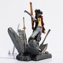 Anime One Piece Dracule Mihawk Luffy PVC Action Figure Collection Toy 6″15CM