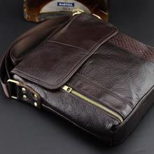 Guaranteed genuine leather Men's Briefcase men messenger bags Business travel bag man leather vintage men bags shoulder bag 2015