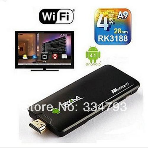 Rikomagic MK802 IV RK3188 Quad Core Android 4.2.2 Mini PC 2G ROM 8G Flash HDMI 1080P Wi-Fi IPTV Stick(China (Mainland))