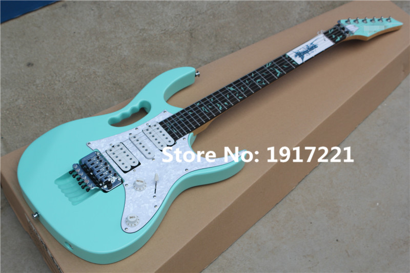 Good Blue Electric Guitar,24 Frets,3 Open Pickups,Floyd Rose,Tree of Life Fret Marks Inlay,White Pearl Pickgaurd,Can be Changed(China (Mainland))