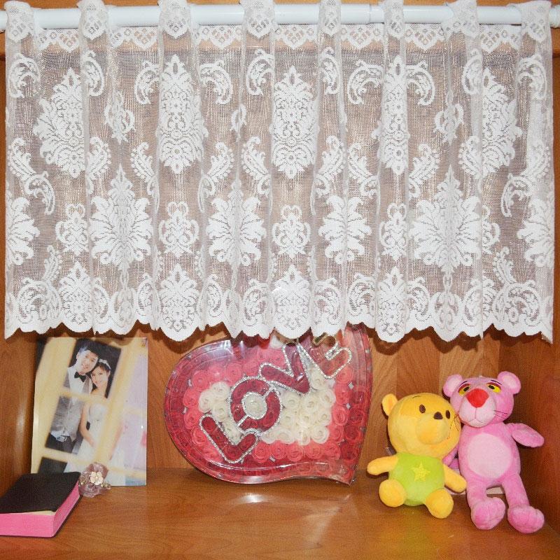 Euramerican Jacquard Short Warp Style Rural lace Yarn Knitting Curtain Kitchen Curtains for Window Shade Curtain(China (Mainland))