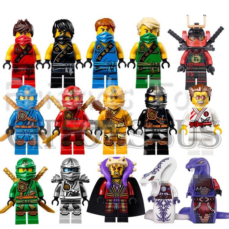 NINJAGO Minifigures Collection Cole Kai Jay Lloyd Nya Skylor Zane Pythor Chen Building Blocks Toys Legoe  -  Toy Rain store