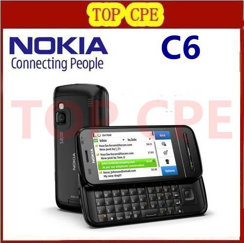 C6-00 Original Nokia C6 3G WIFI GPS 5MP Bluetooth Jave Unlock Mobile phone Refurbished 1 year warranty Free shipping(China (Mainland))