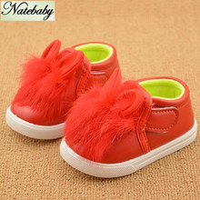 Wholesale children quilted explosion models injection comfort infants female baby rabbit toddler shoes NX0741(China (Mainland))