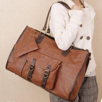 New Arrival 2016 Women Bags Pu Leather Shoulder Bag Vintage Lady Tote Handbag Fashion Messenger Bag Large Bolsa Feminina N1415(China (Mainland))
