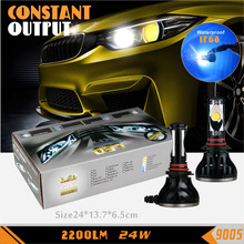 RuiGuang 9005  Led headlight  Conversion Kit 24w 2200LM 6500K Replace HID Halogen for Honda Accord Civic Toyota Corolla