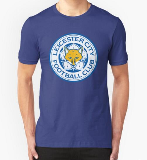 2016 Newest Men Cool team logo T shirt Leicester City foxes Tops man Custom Printed Short Sleeve Tees free shipping(China (Mainland))