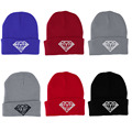 Popular Winter Women s Diamond Beanies Knitted Ski Caps Crochet Hats crochet female bonnet casquette mujer
