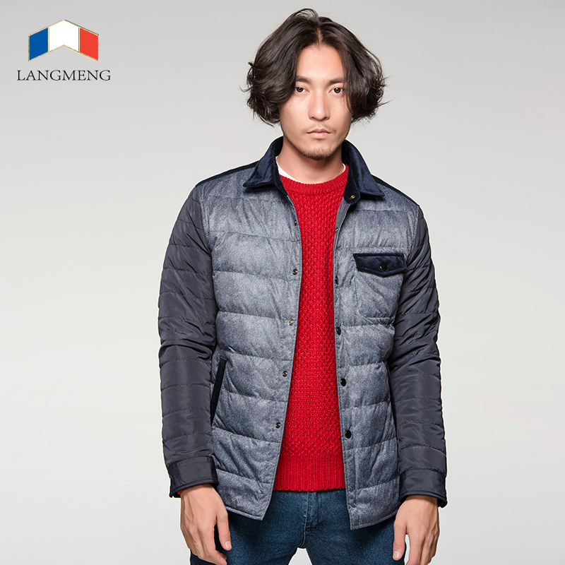 2014 free shipping men winter super warm parka outwear stylish splicing men jackets brand design men thick slim casaul coats