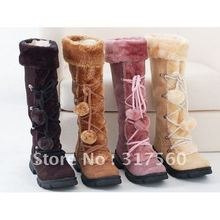 2013 Winter New arrived Black Sexy Ethnic Style Zipper Suede Boots For women Plush boots Flaf lovely shoes HLD-818(China (Mainland))