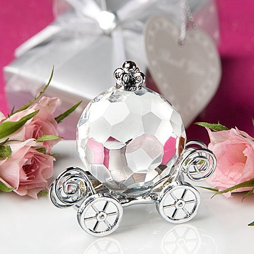 50pcs/lot Crystal Pumpkin Coach Favors Crystal Carriage Baby Shower Baptism  Favors