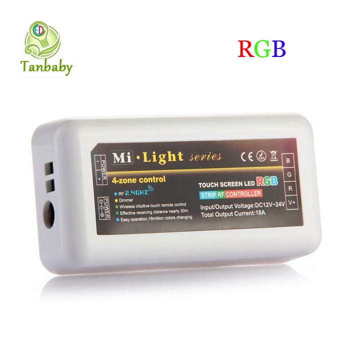 Tanbaby Mi.light series 4-zone RGB led controller wireless touch screen wifi led control for RGB led bulb led strip(China (Mainland))